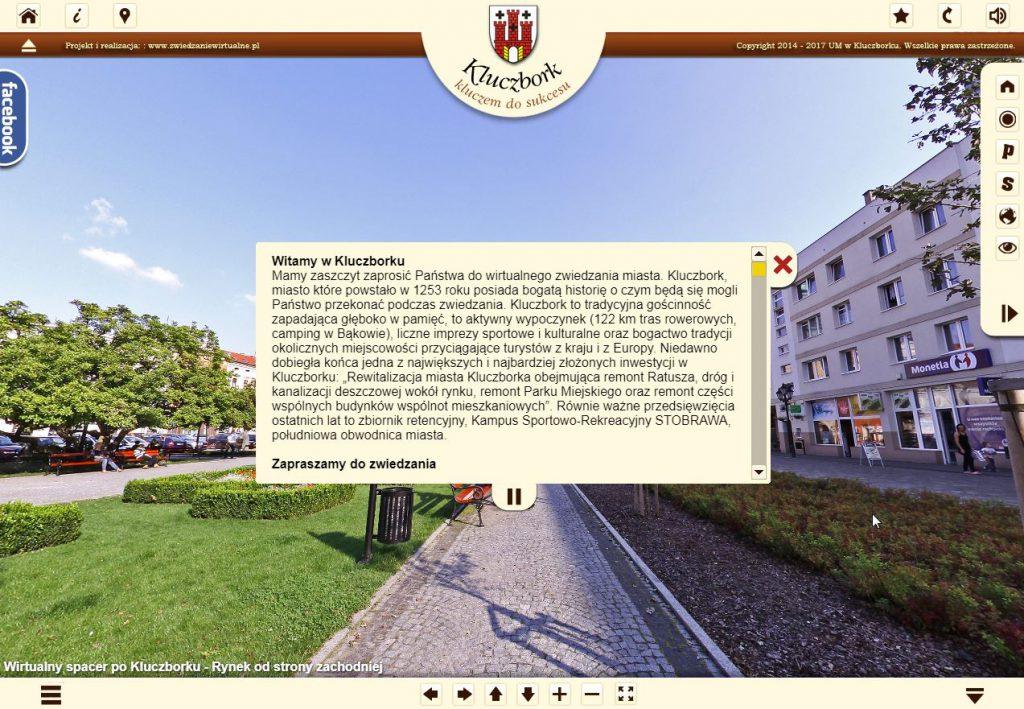 Wirtualny spacer po Kluczborku