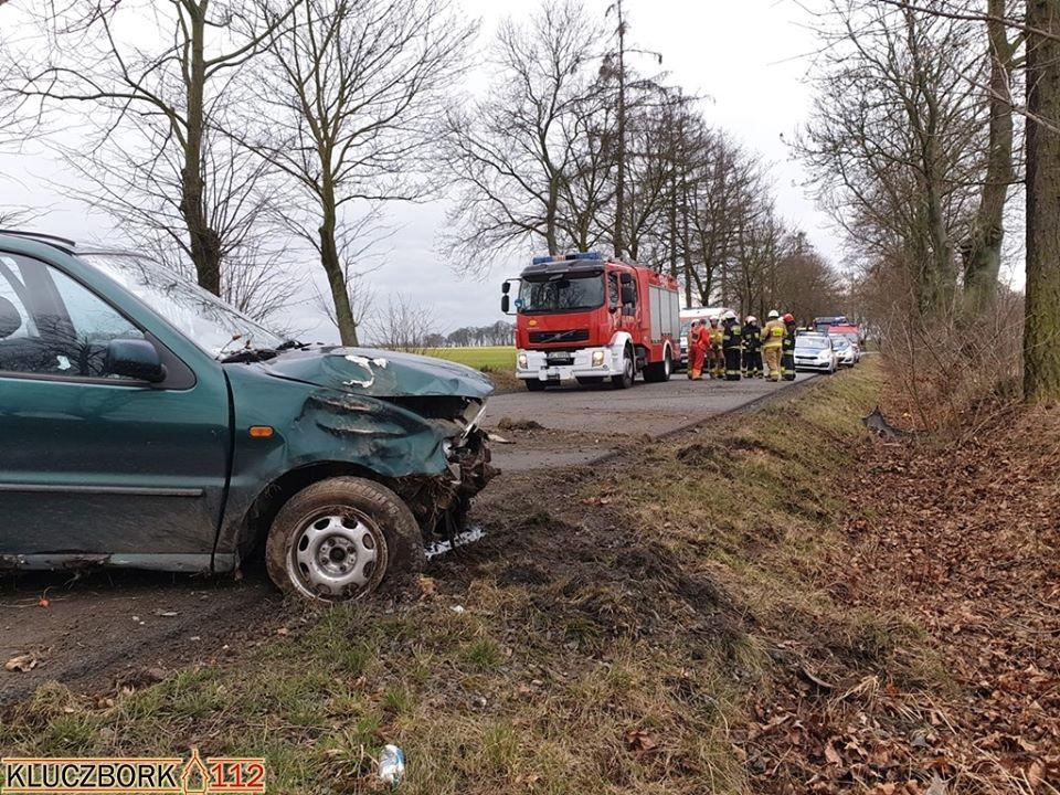 Wypadek drogowy w miejsowości Borek