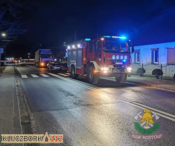 Wypadek na drodze krajowej nr 11 w Kostowie