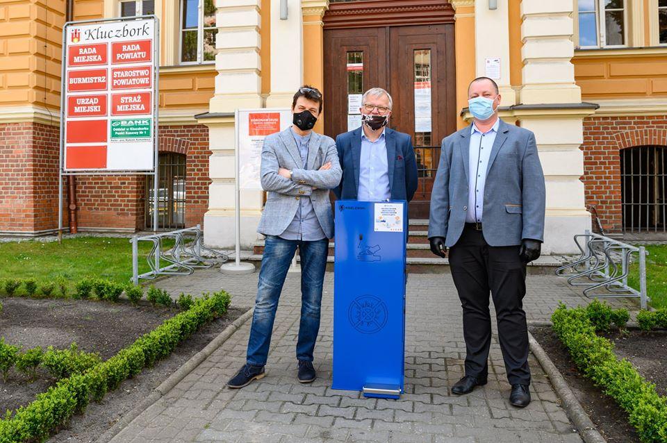 Radny Tomasz Michalak kupił Stację Dezynfekcyjną dla Urzędu Miejskiego w Kluczborku