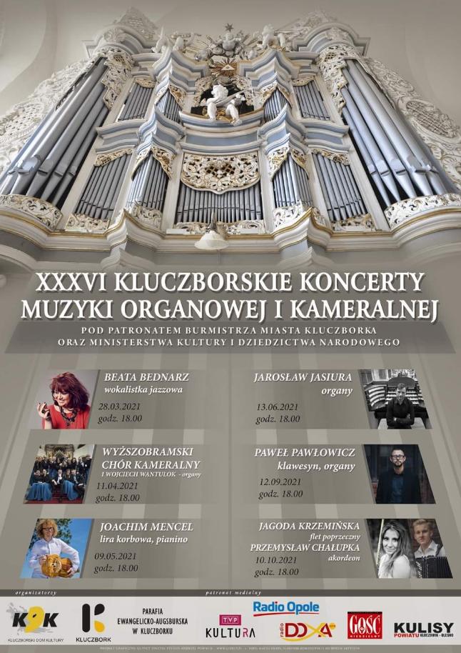 XXXVI Kluczborskie Koncerty Muzyki Organowej i Kameralnej w Kluczborku