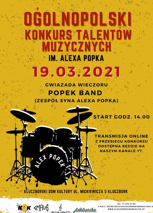 Konkurs Talentów Muzycznych im. Alexa Popka